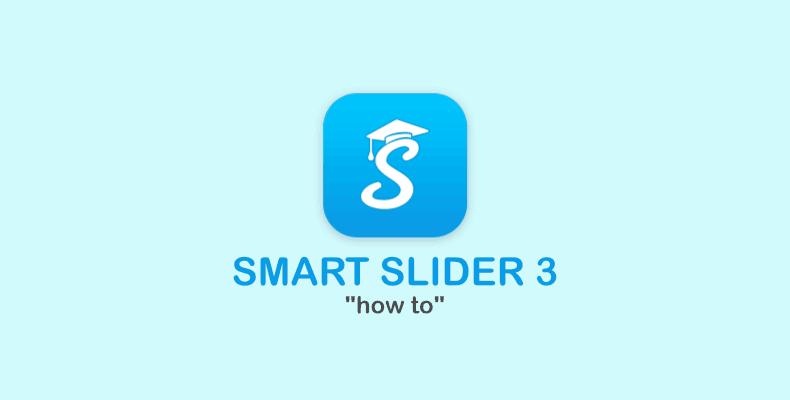 Modificare una slide con Smart Slider 3